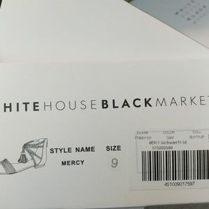 2d0600fbe789 White House Black Market Shoes - NIB WHBM GOLD BRAIDED LEATHER SANDALS 9M